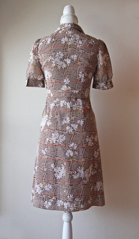 Cappuccino brown speckled daisy summer dress 2