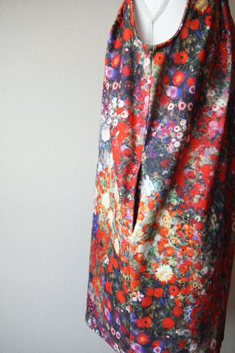 Vibrant red floral pattern tunic mini dress 4