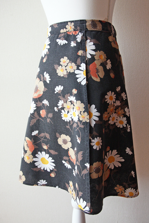 Daisy and poppy wrap skirt