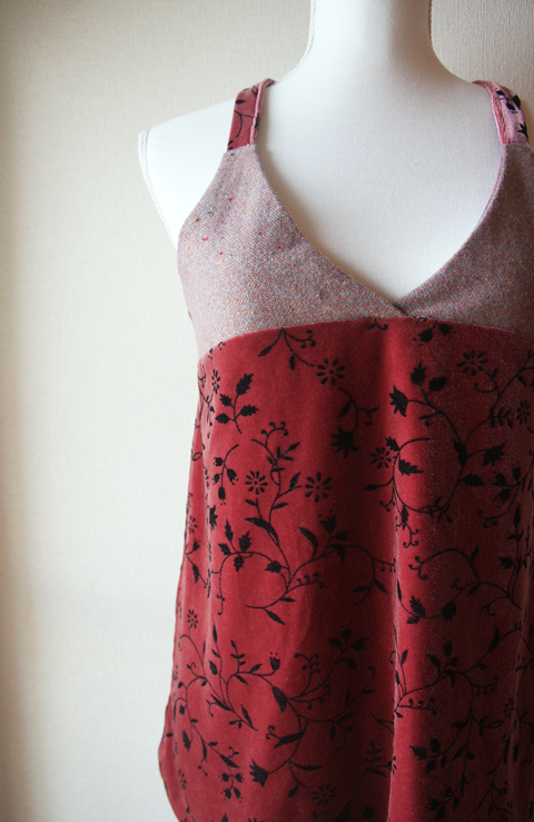 Wool and velvet rosewood pink halter top 2