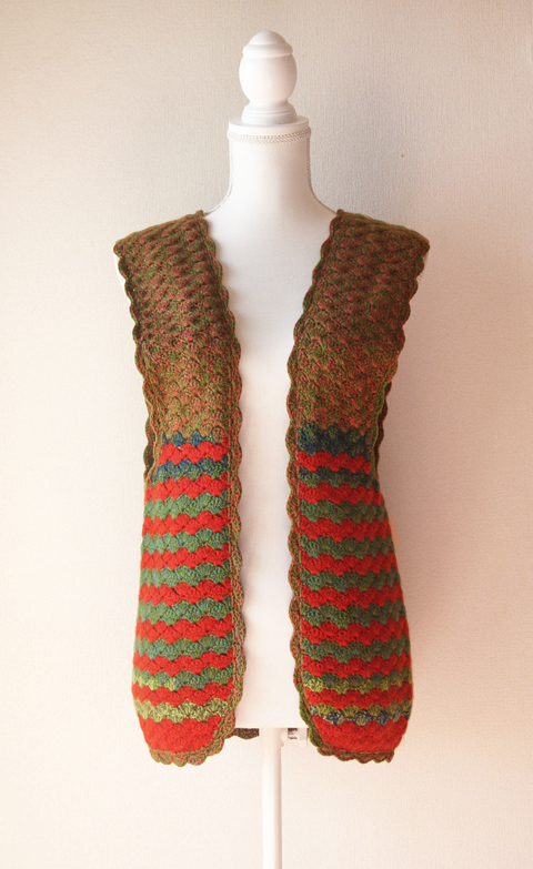 crocheted wool vest 1
