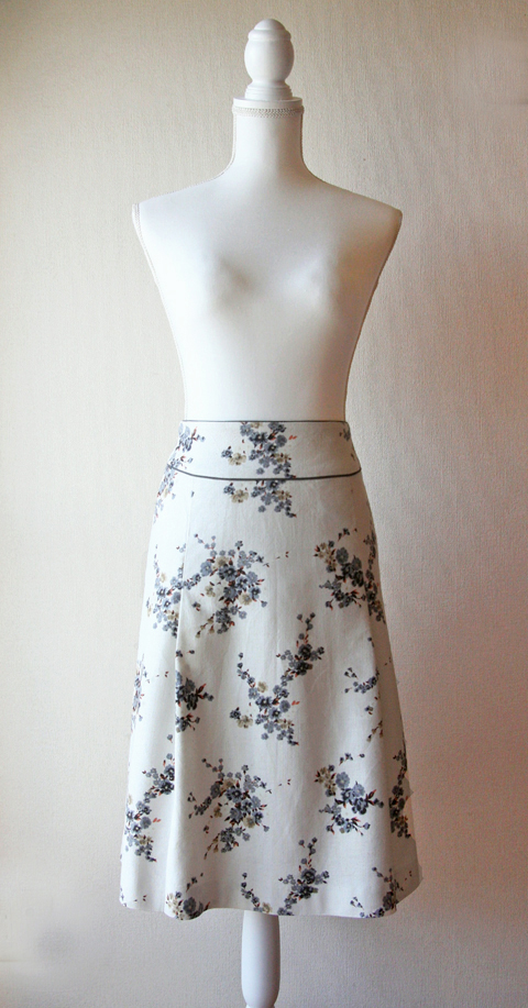 Rouge Vif cream floral skirt 1