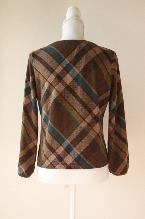 Release plaid and pleated neckline blouse 2