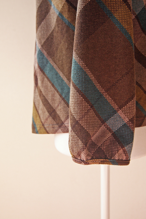 Release plaid and pleated neckline blouse 4