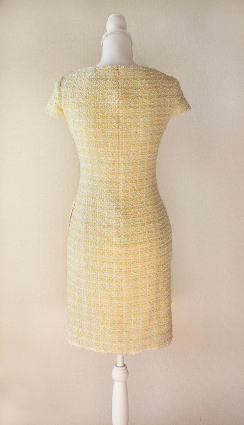 kimijima-boutique-yellow-boucle-tweed-dress-2