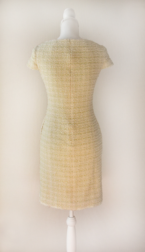 kimijima-boutique-yellow-boucle-tweed-dress-2b