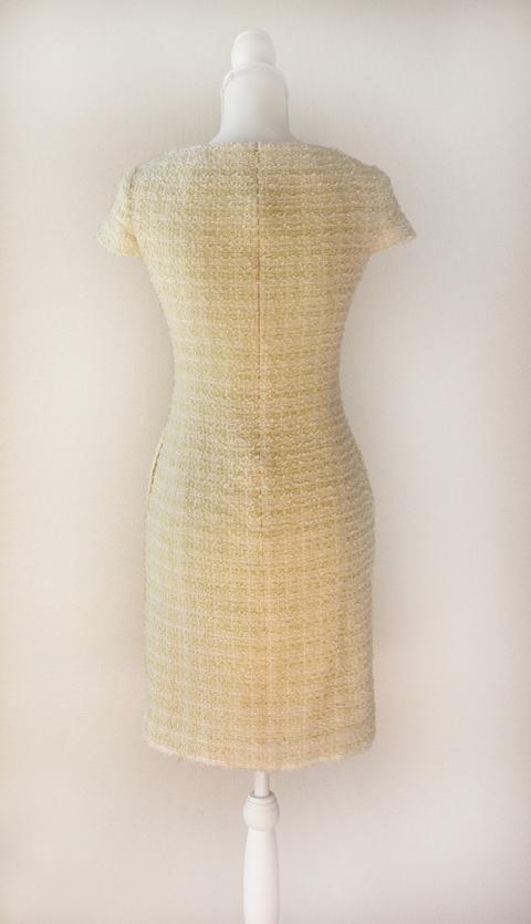kimijima-boutique-yellow-boucle-tweed-dress-2b