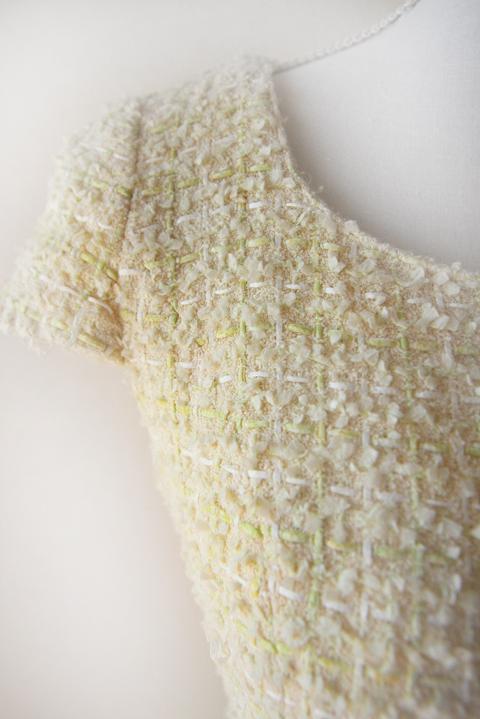 kimijima-boutique-yellow-boucle-tweed-dress-3b