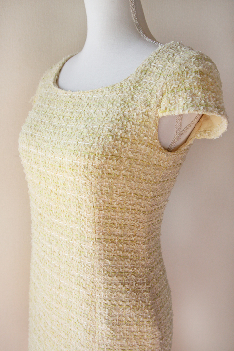 kimijima-boutique-yellow-boucle-tweed-dress-4
