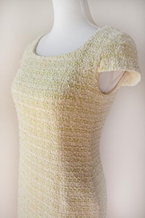 kimijima-boutique-yellow-boucle-tweed-dress-4b