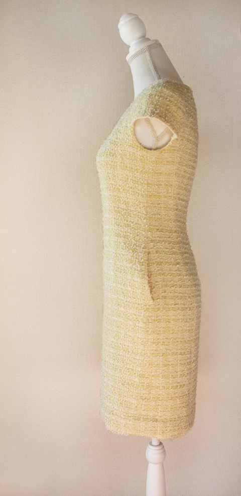 kimijima-boutique-yellow-boucle-tweed-dress-5