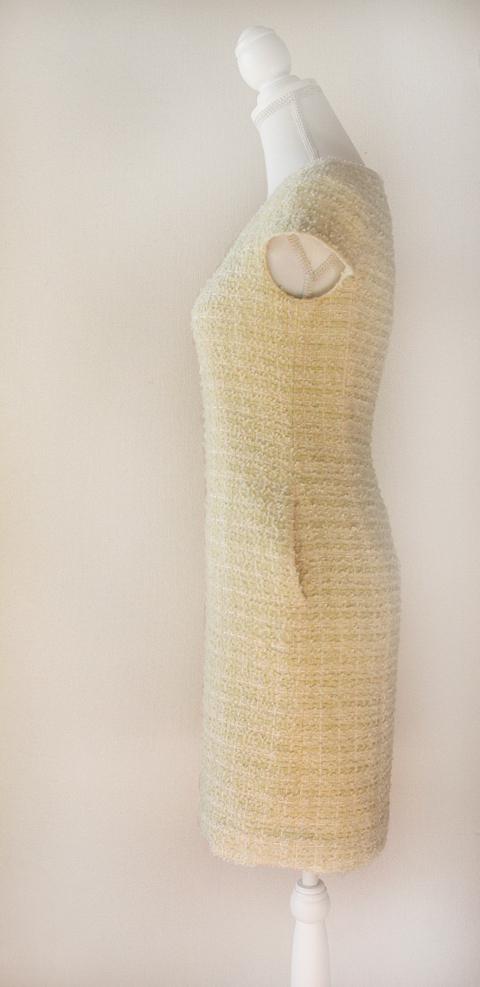 kimijima-boutique-yellow-boucle-tweed-dress-5b