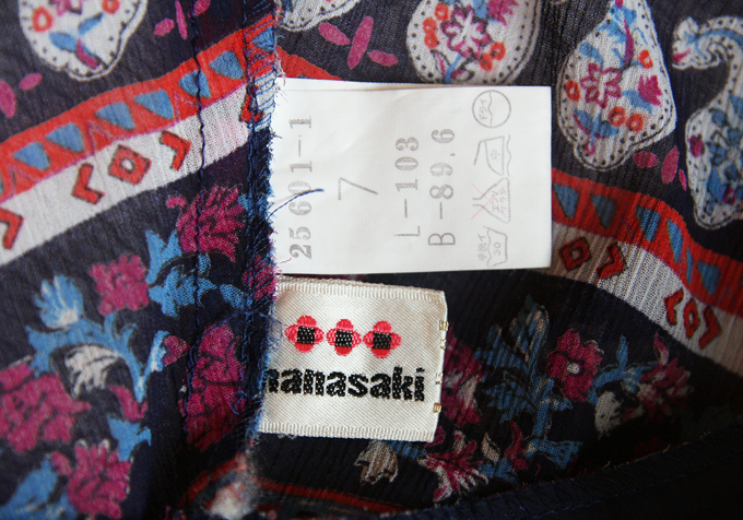 Hanasaki red blue white light summer dress