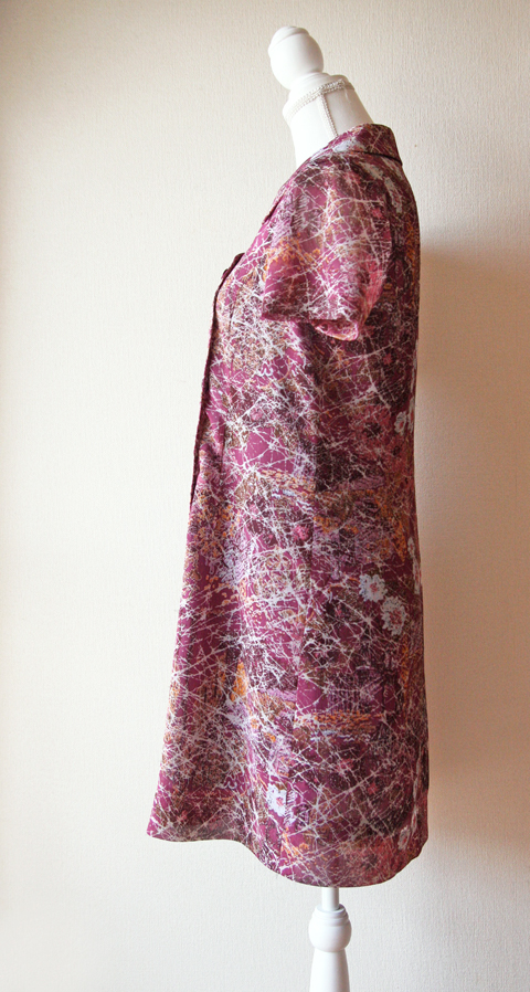 Handmade lilac short shift summer dress