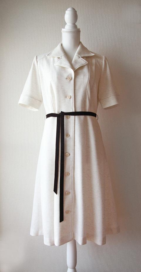 Leo d'or cream midi shirt dress