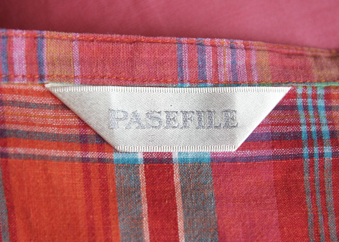 Pasefile Madras plaid wrap skirt 6