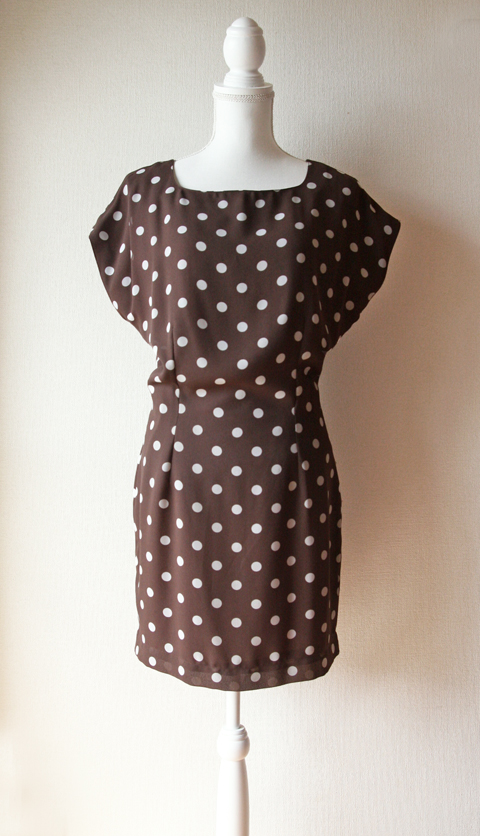 Pennyblack chocolate polka dotted mini dress