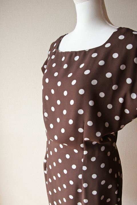 Pennyblack chocolate polka dotted mini dress