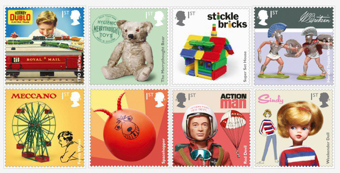 royal mail vintage toy stamps