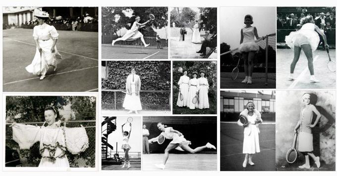 Wimbledon vintage fashion