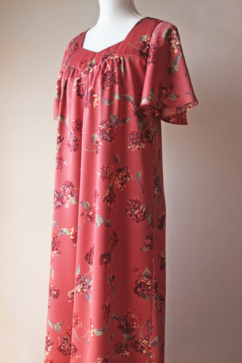 Kuulei Sportswear rouge pink floral maxi dress