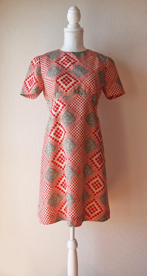 Soie Robe red polka dotted short sleeve mini dress